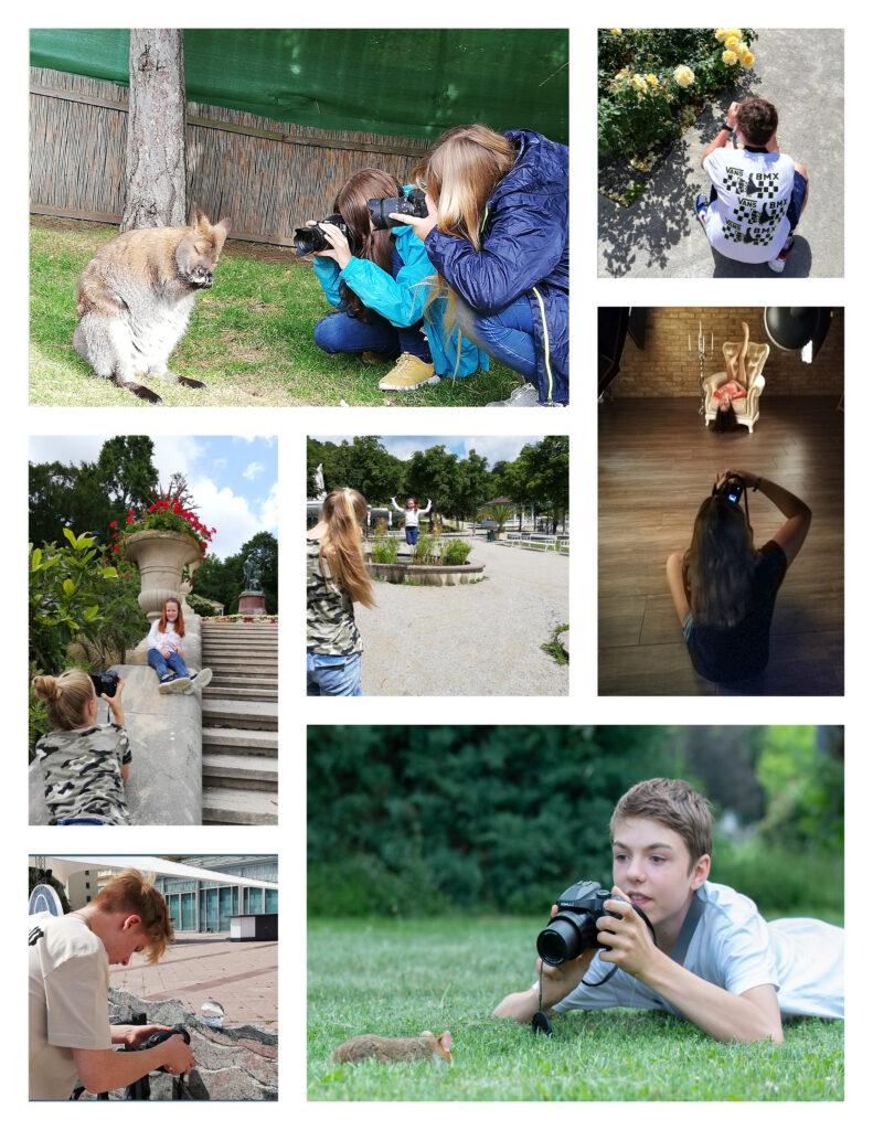 Jugendfototraining outdoor und indoor, in der NAtur, im Fotostudio, alleine oder zu zweit bzw zu dritt, Jugendliche fotografieren mit Fotoapparat