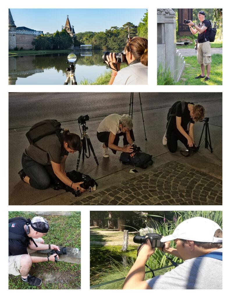 Fotokurse, Workshops, Teilnehmer beim arbeiten